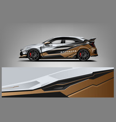 Car decal wrap design graphic abstract stripe vector
