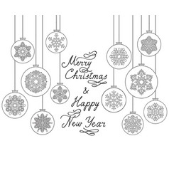 christmas background with handwritten greeting vector image