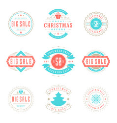 christmas sale badges labels and tags design vector image