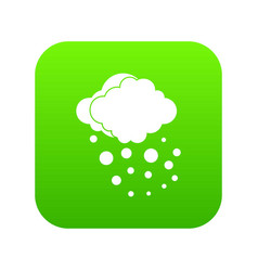 Cloud with hail icon digital green vector