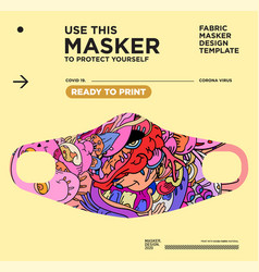 Colorful abstract fabric masker ready to print vector