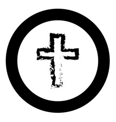 cross black icon in circle vector image