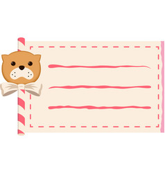 Dog paper roll copy-space vector