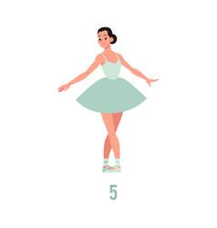 elegant ballerina in tutu dress dancing vector image