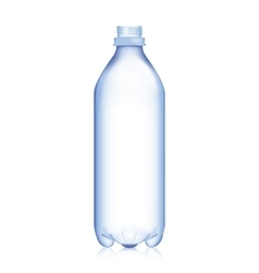 Empty Bottle Realistic Blank Plastic Blue Water vector image