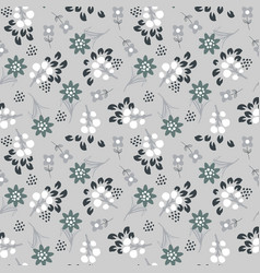Floral gray seamless pattern vector