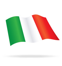 Flying flag italy vector