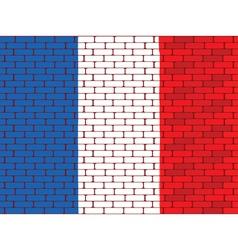 france brick wall vector image