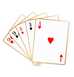 Full house playing cards vector