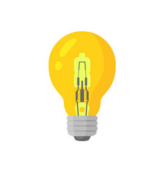 Glow yellow light lamp bulb colorful icon vector