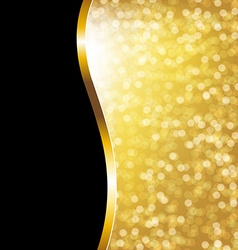 Golden Bokeh Holiday Poster vector image