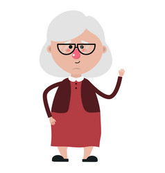 Grandmother cartoon design vector