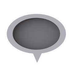 grayscale chat oval bubble icon vector image