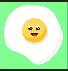 happy egg with eyes on white background vector image