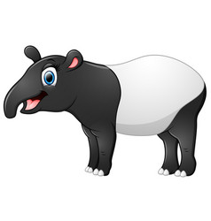 Happy tapir cartoon vector