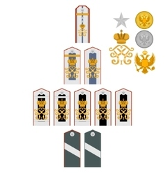 Insignia imperial military medical academy vector