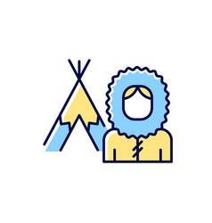 Inuit population rgb color icon vector