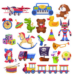 kids toys set toy kid child preschool house baby vector image