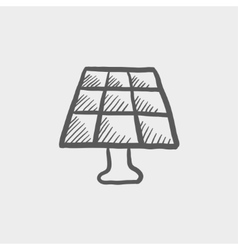 Lamp sketch icon vector image