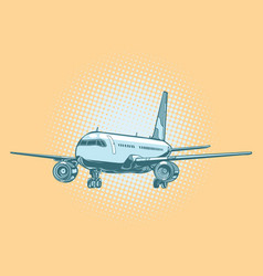 landing of a passenger plane vector image