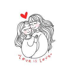Lesbian family concept vector
