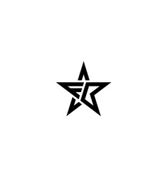 Letter f and b with star logo design template vector