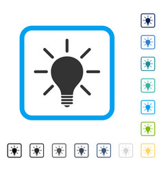 Light bulb framed icon vector