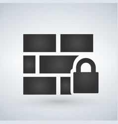 locked wall icon isolated on white background vector image