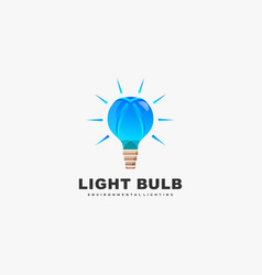 Logo light bulb gradient colorful style vector