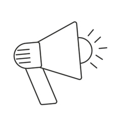Megaphone sound device icon vector