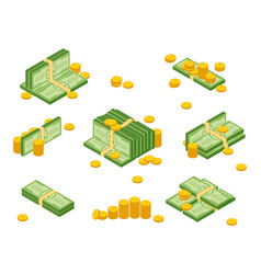money cash heap vector image