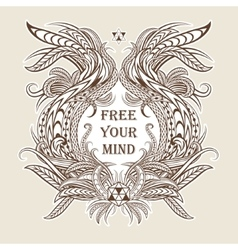 Motivation Free your mind in ethnic frame vector