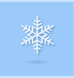 multilayered paper snowflake icon paper cut snow vector image