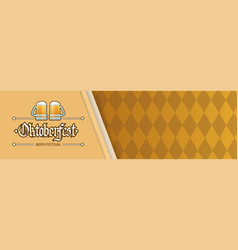oktoberfest beer festival holiday decoration vector image