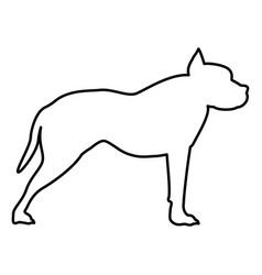 pit bull terrier icon black color flat style vector image