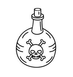 poison bottle icon doodle hand drawn or black vector image