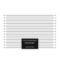 Police lineup or mugshot background vector