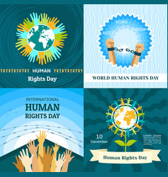 Rights day banner set flat style vector