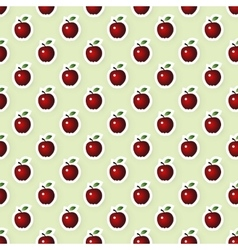 Seamless Background with Apples vector image