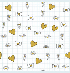 seamless pattern with for happy valentines day vector image