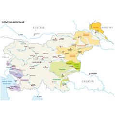slovenia wine growing regions map vector image
