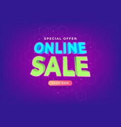 Special offer online sale promotion banner vector