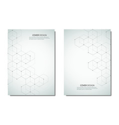 technology and science brochure or cover vector image