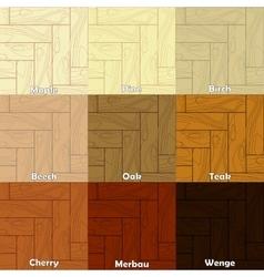 The wooden textures vector