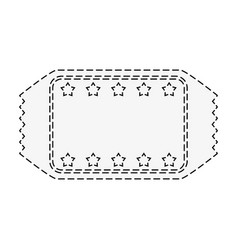 Ticket blank star frame icon image vector
