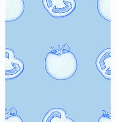 tomato slice pattern tomato organic food vector image
