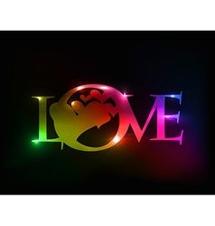 valentines day love design vector image