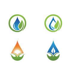 Water drop logo template design vector