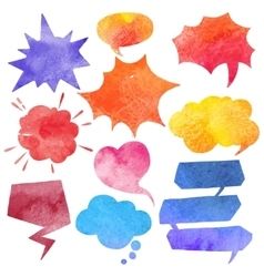 Watercolor Comics Bubble Set vector image