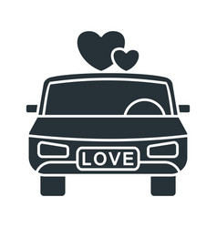 wedding limousine icon vector image